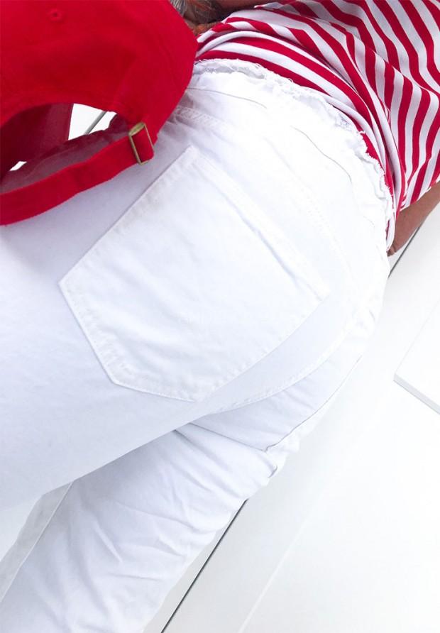 Spodnie Need Jeans White