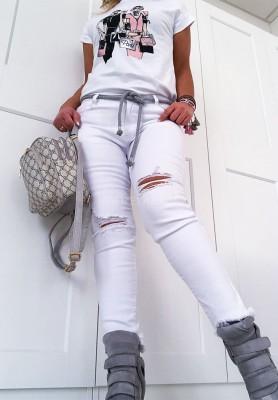 Spodnie Steel White