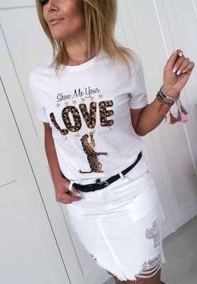 T-shirt Show Me White
