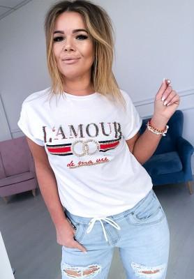 T-shirt Lamour White