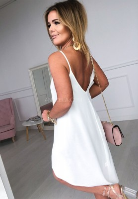 Sukienka Lacositta Ecru