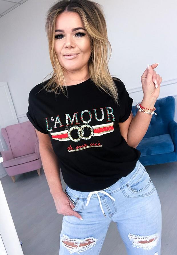 T-shirt Lamour Black