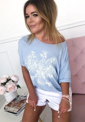 Bluzka Oversize Orzeł Niebieski
