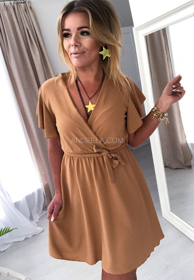 Платье Italiana Camel