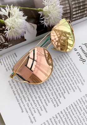 Okulary Cat Eye Gold