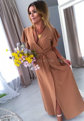 Sukienka Maxi Mirabella Camel