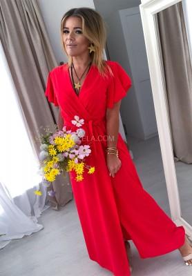 Sukienka Maxi Mirabella Czerwona