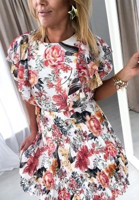 Sukienka Plisa Kwiaty