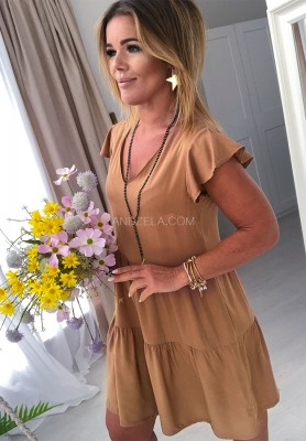 Sukienka Maomma Camel