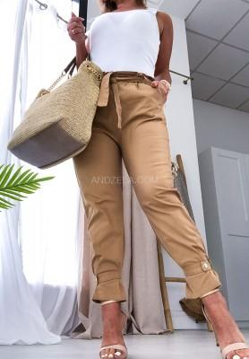 Spodnie High West Camel