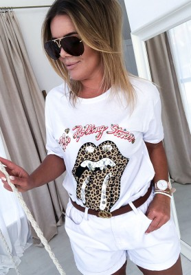 T-shirt Rolling Stones White