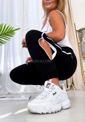 Spodnie Dresowe Zip Black