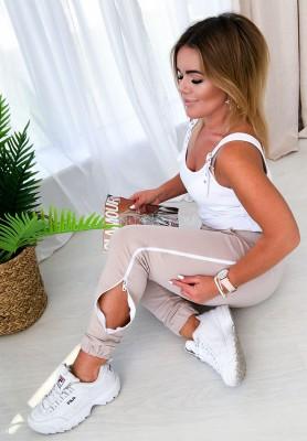Spodnie Dresowe Zip Nude
