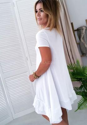 61b2ce0660 Sukienka Delagos White Sukienka Delagos White