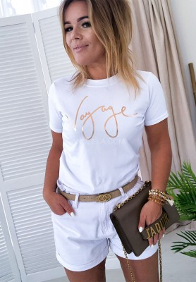 T-shirt Gold Vog White