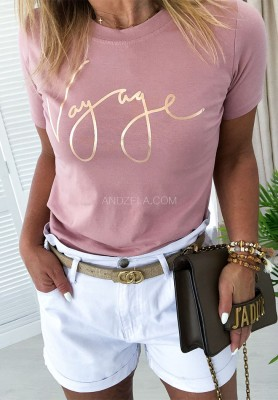 T-shirt Gold Vog Powder