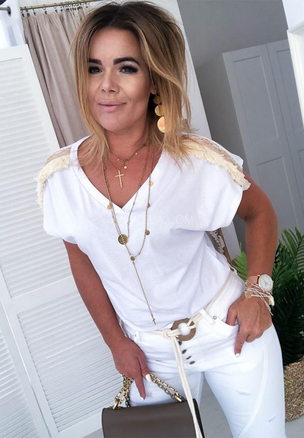 T-shirt Boho Top White