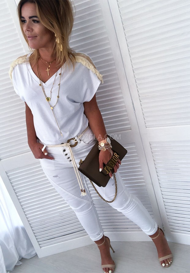 Spodnie White Jeans