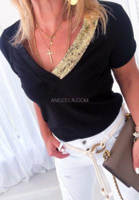 T-shirt Novella Czarna