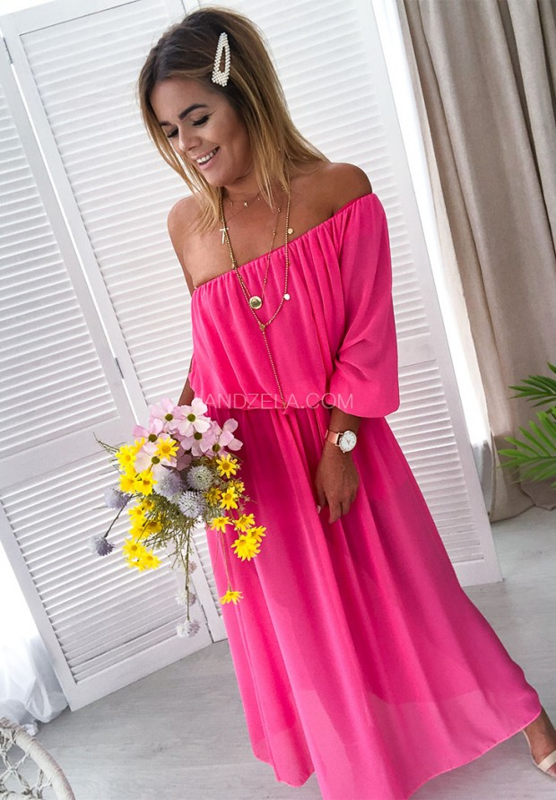 Платье Maxi Shirley Fuksja