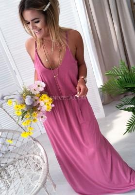 Sukienka Maxi Madera Róż