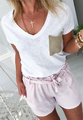 Bluzka Gold Pocket Biała