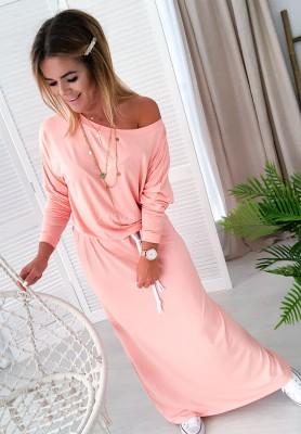 Sukienka Maxi Size Łosoś