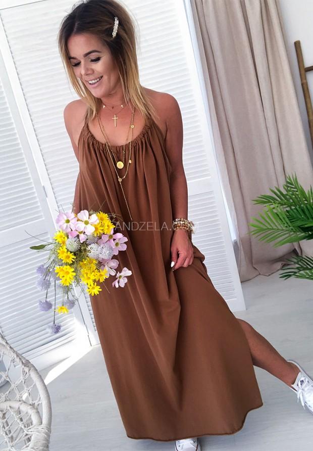 Платье Maxi Lia Camel