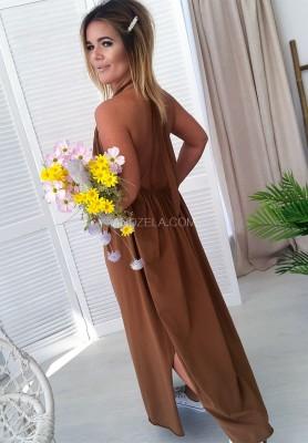 Sukienka Maxi Lia Camel