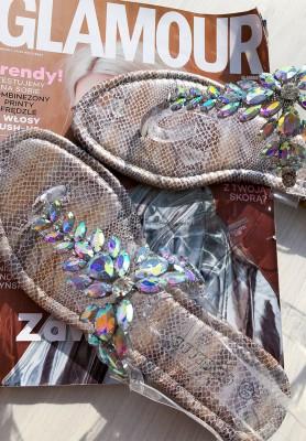 Sandałki Snake Silver