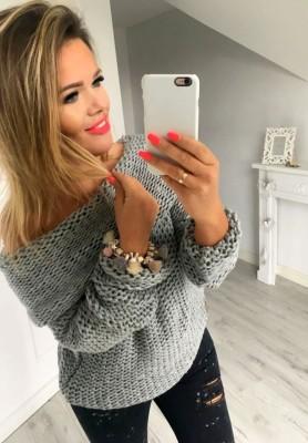 4995 Sweter Easy Szary