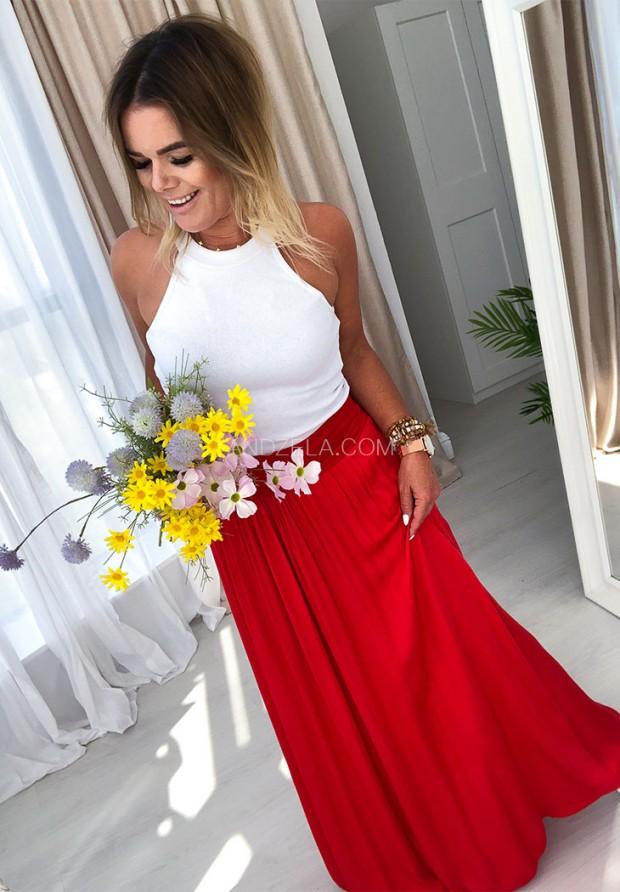 Spódnica Maxi Boho Czerwona