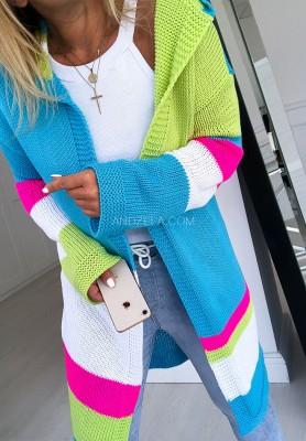Sweter Kardigan Shevron Blue
