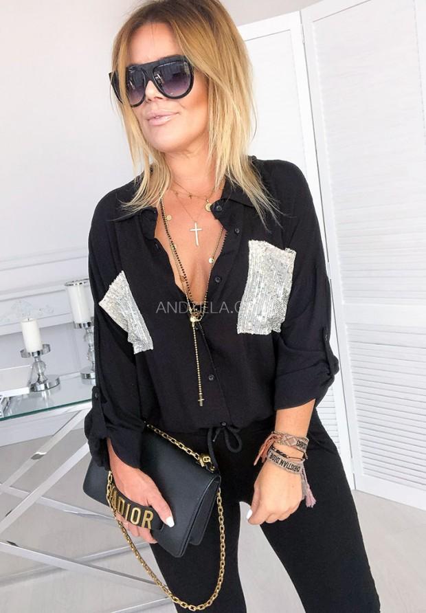 Рубашка Sequins Black
