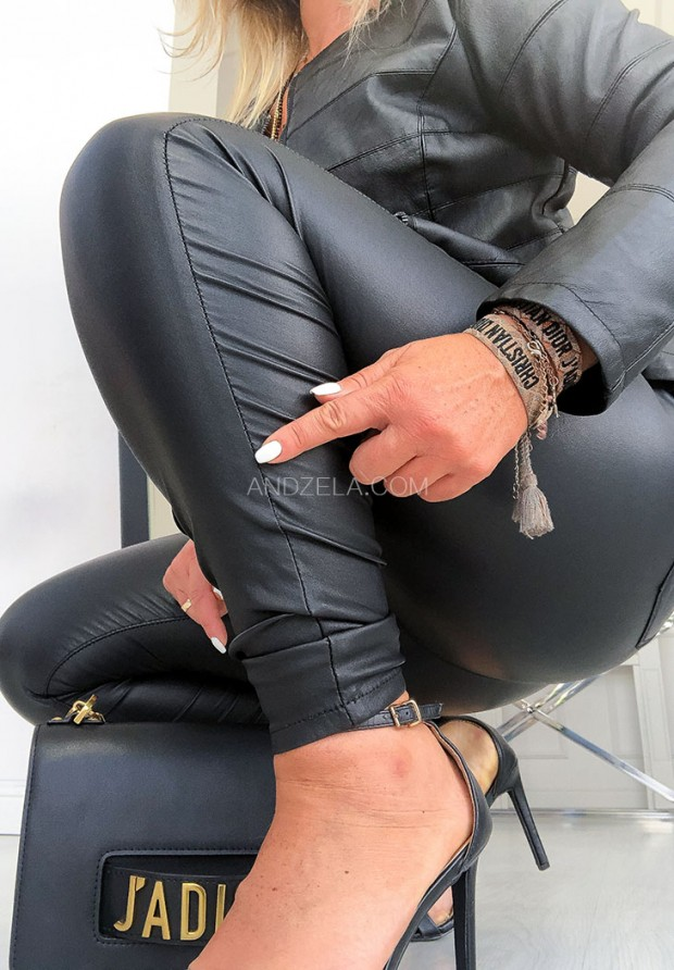 Spodnie Woskowane Rebel Black