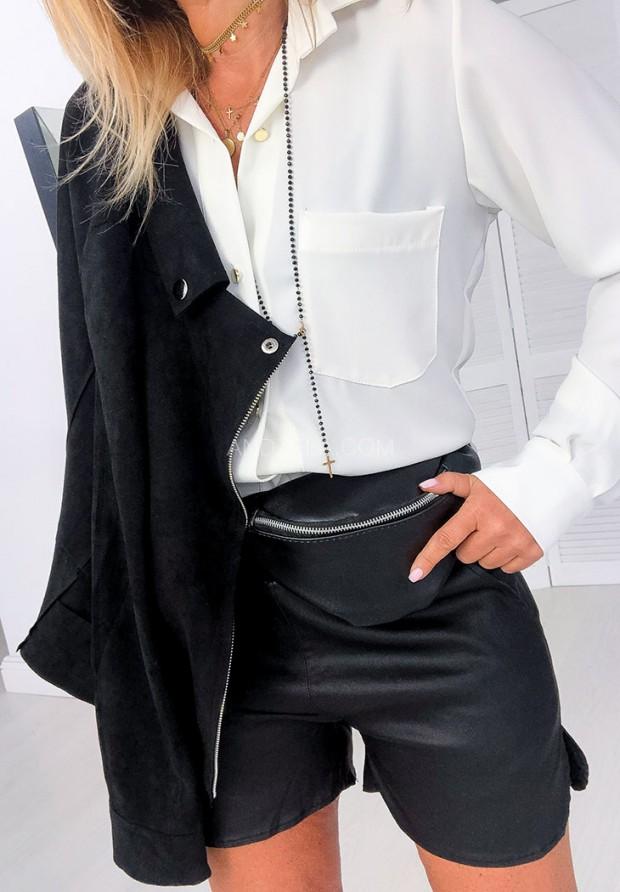 Spodenki Black Leather