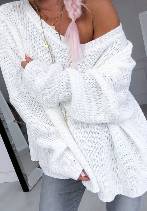 Sweter Oversize Venezia Ecru