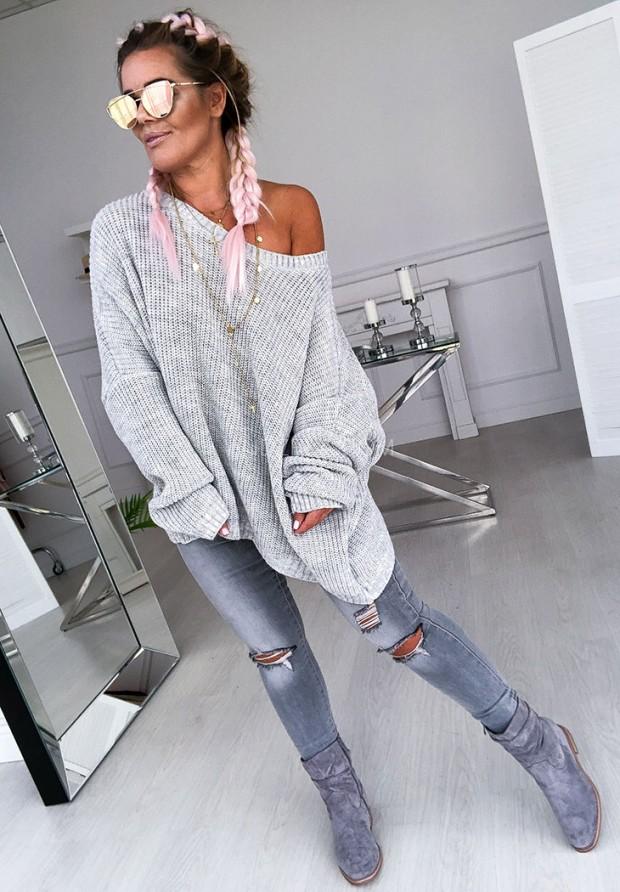 Sweter Oversize Venezia Grey