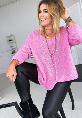 Sweter Art Pink