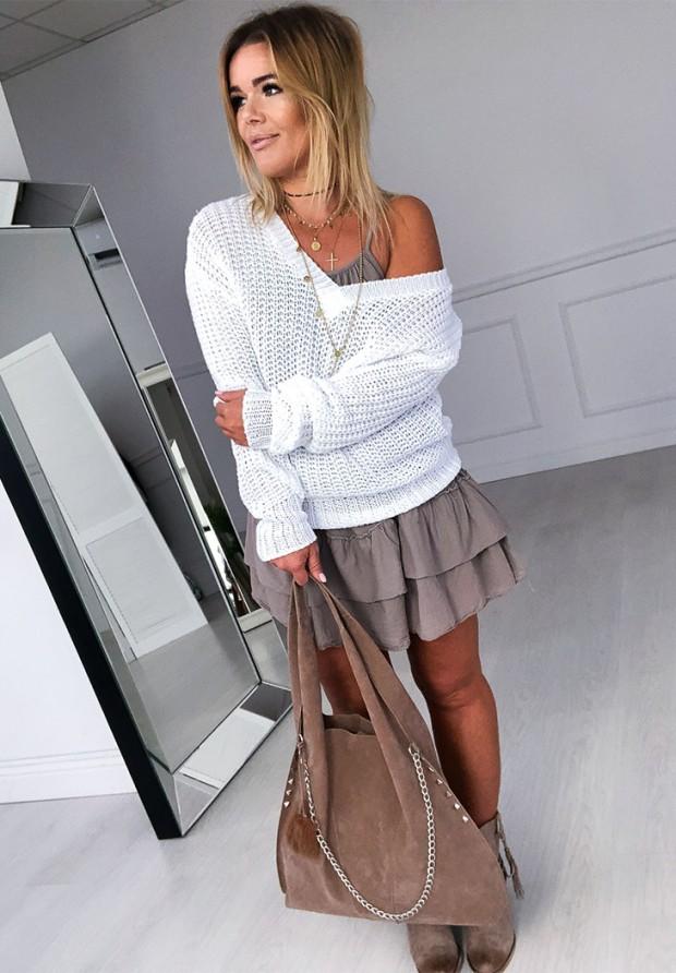 Sweter Aurora White