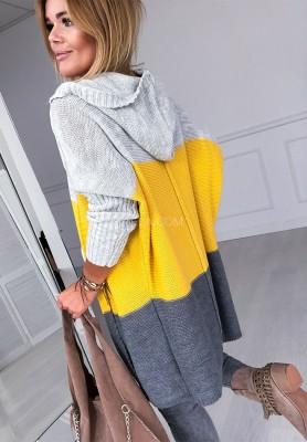 Sweter Kardigan Friend Yellow