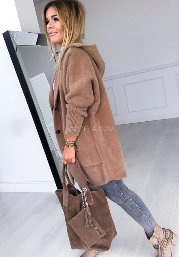 Płaszcz Alpaka West Camel