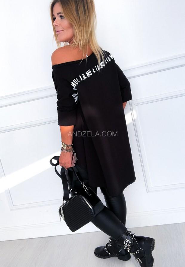 Bluzka Oversize Lamu Black