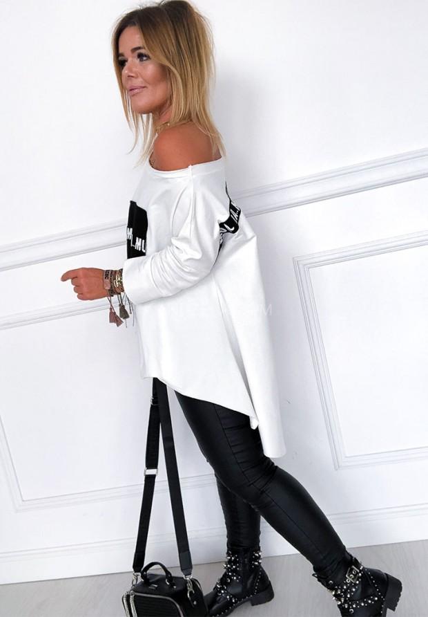 Bluzka Oversize Lamu White