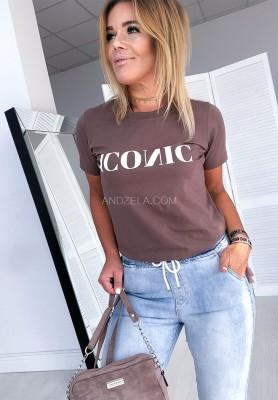 T-shirt Iconic Mokka