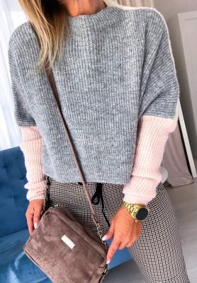 Sweter Short Szary