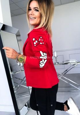 Marynarka Mouse Czerwona