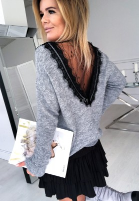 Sweter Lace Grey