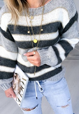Sweter Yonelle Szary