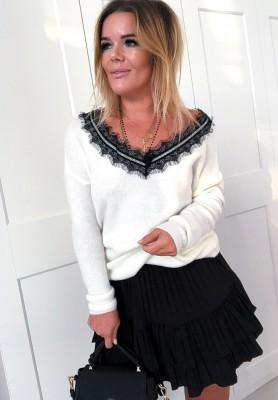 Sweter Lace Ecru